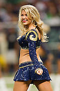 ST. LOUIS, MO - SEPTEMBER 11:   Cheerleader of the St. Louis Rams performs during a game against the Philadelphia Eagles at the Edward Jones Dome on September 11, 2011 in St. Louis, Missouri.  The Eagles defeated the Rams 31 to 13.  (Photo by Wesley Hitt/Getty Images) *** Local Caption ***