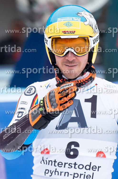 28.02.2016, Hannes Trinkl Rennstrecke, Hinterstoder, AUT, FIS Weltcup Ski Alpin, Hinterstoder, Riesenslalom, Herren, 2. Lauf, im Bild Felix Neureuther (GER) // Felix Neureuther of Germany reacts after his 2nd run of men's Giant Slalom of Hinterstoder FIS Ski Alpine World Cup at the Hannes Trinkl Rennstrecke in Hinterstoder, Austria on 2016/02/28. EXPA Pictures © 2016, PhotoCredit: EXPA/ Johann Groder