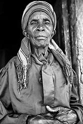 Kenyan woman standing in doorway