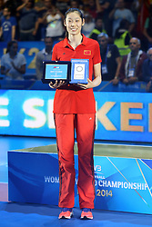 CHINA ZHU TING BEST SCORER<br /> AWARDING CEREMONY<br /> VOLLEYBALL WOMEN'S WORLD CHAMPIONSHIP 2014<br /> MILAN 12-10-2014<br /> PHOTO BY FILIPPO RUBIN
