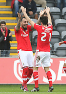 Benfica's player Mitroglou celebrates after scoring a goal, during the Portuguese First League football match Nacional vs Benfica held at Madeira Stadium, Funchal, Portugal, 11 January, 2016.  LUSA / GREGORIO CUNHA