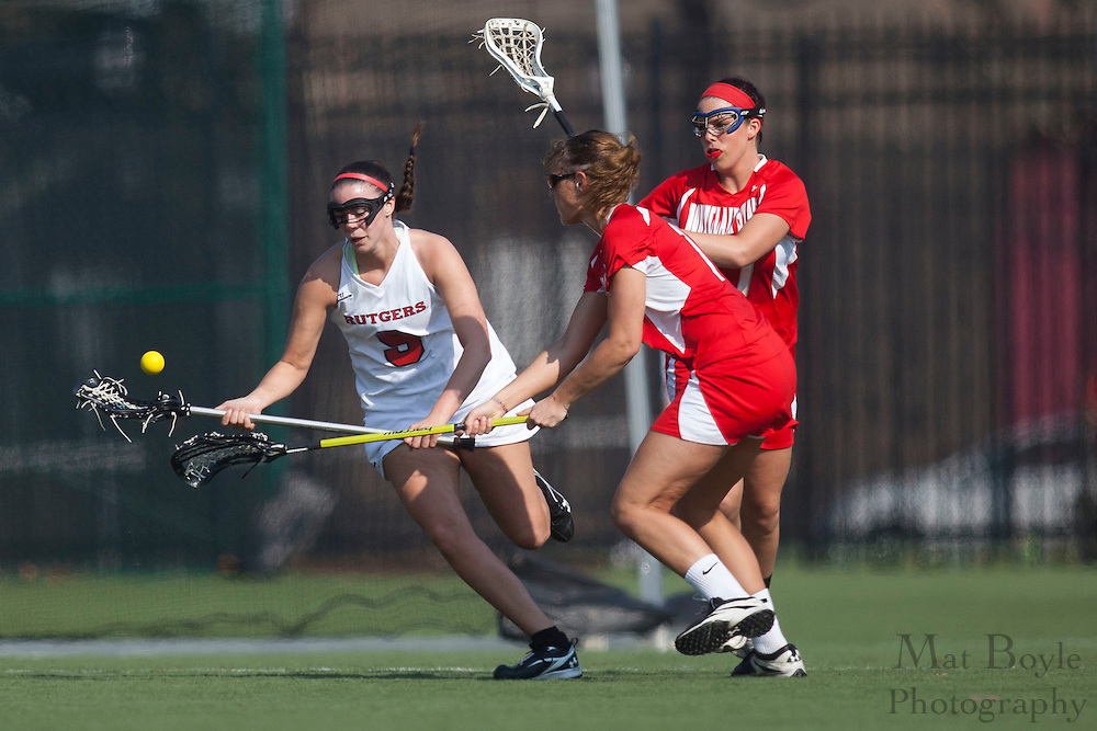 Rutgers University - Camden Lacrosse Junior Casey Crenny (9); Rutgers-Camden Lacrosse against Montclair State University  on Wednesday March 21, 2012. (photo / Mat Boyle)