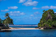 Little beach on the east coast of Tutuila island, American Samoa, South Pacific