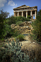 Photo of ruins of Temple of Hephaistos in Athens, Greece