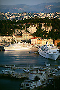 France, Provence, Cote d'Azur, Ships in Nice Harbor