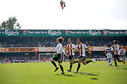 Brentford midfielder Jota (23) celebrates his second goal by taking his shirt off and throwing it in the air (score 3-1) during the EFL Sky Bet Championship match between Brentford and Queens Park Rangers at Griffin Park, London, England on 22 April 2017. Photo by Andy Walter.