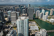Aerial view of downtown Miami.