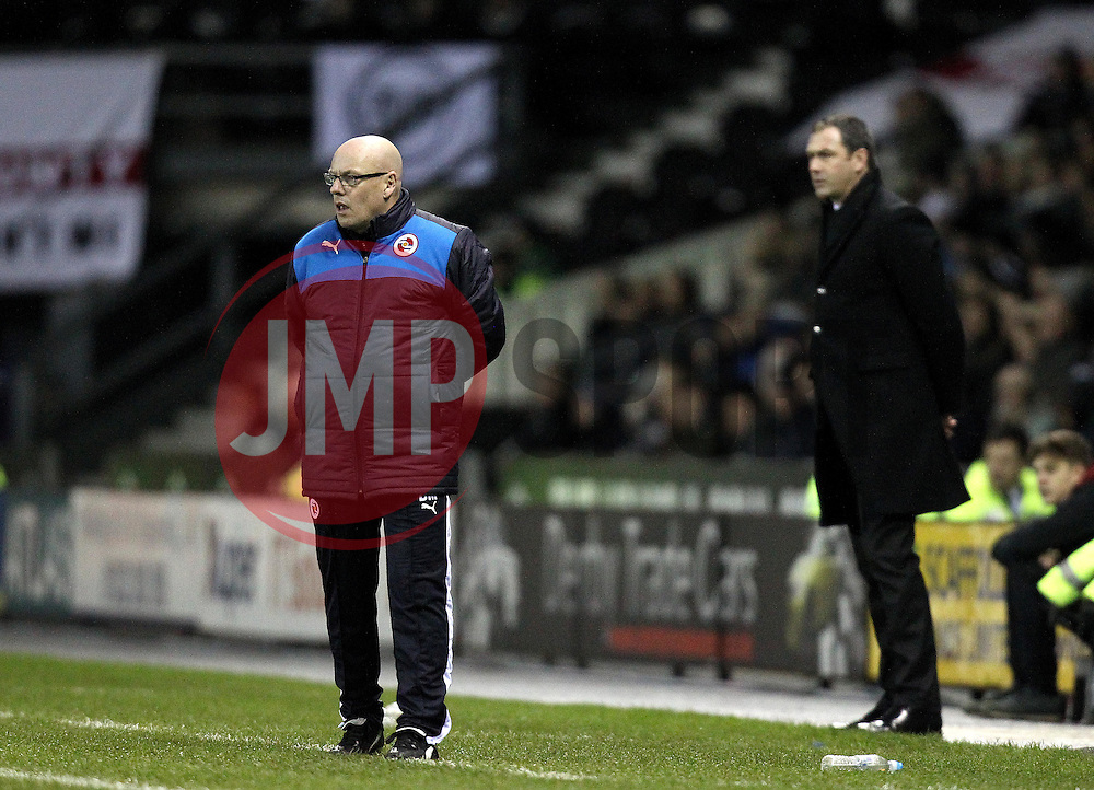 Reading Manager Brian McDermott and Derby County Manager Paul Clement - Mandatory byline: Robbie Stephenson/JMP - 12/01/2016 - FOOTBALL - iPro Stadium - Derby, England - Derby County v Reading - Sky Bet Championship