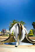 A fountain at twin towns park, Holon, Israel