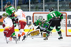 23.10.2014, Hala Tivoli, Ljubljana, SLO, EBEL, HDD Telemach Olimpija Ljubljana vs HC Bolzano Südtirol, 13. Runde, in picture Andy Chiodo (HDD Telemach Olimpija, #40) during the Erste Bank Icehockey League 13. Round between HDD Telemach Olimpija Ljubljana and  HC Bolzano Südtirol at the Hala Tivoli, Ljubljana, Slovenia on 2014/10/23. Photo by Matic Klansek Velej / Sportida