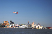Liverpool June 2008: HMS Ark Royal berthed at the Pier Head, during the city's Capital of Culture events.