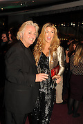 DAVID EMANUEL; AMY WILLERTON, The VIP night for Cirque Du Soleil: Quidam at  the Royal Albert Hall, London. 7 January 2013
