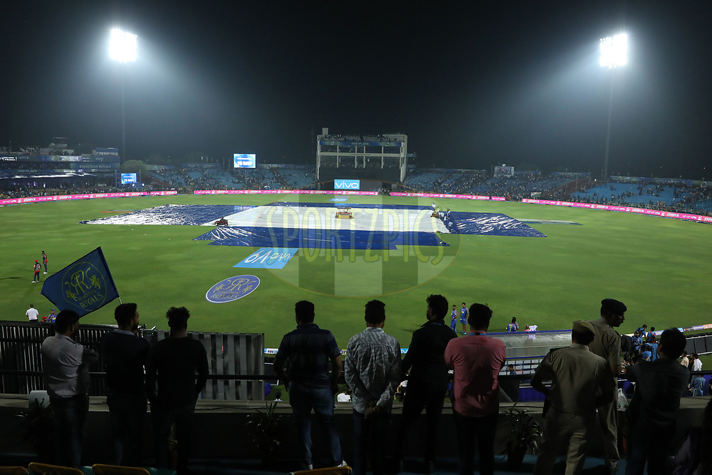 GV during match six of the Vivo Indian Premier League 2018 (IPL 2018) between the Rajasthan Royals and the Delhi Daredevils held at the The Sawai Mansingh Stadium in Jaipur on the 11th April 2018.<br /> <br /> Photo by: Arjun Singh / IPL/ SPORTZPICS