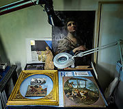 Rome, the coservative studio Merlini Storti, some of the artworks under restoration in the Merlini