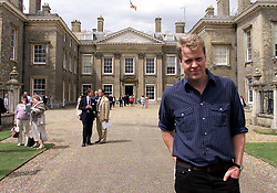 Earl Spencer stands outside Althorp, the family Home near Northampton. The house is due to open to the public on Sunday, the day that would have been Diana Princess of Wales' 40th Birthday.