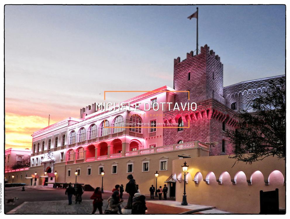 Palazzo Reale del principato di Monaco,  città di Montecarlo .Principality of Monaco, the city of Montecarlo