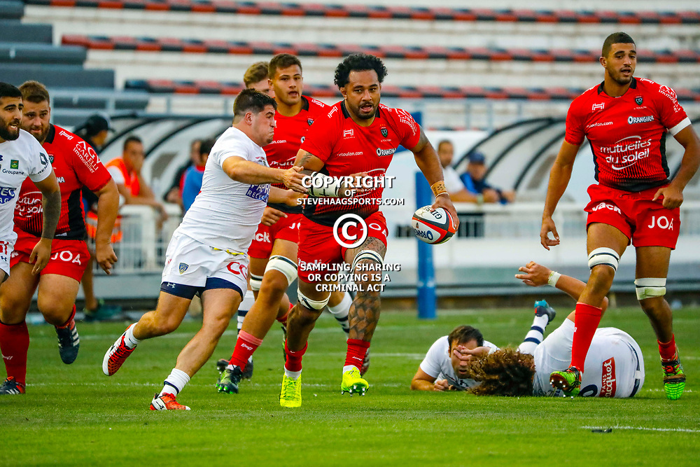 Samu Manoa of Toulon during the pre-season match between Rc Toulon and Clermont Auvergne at Felix Mayol Stadium on August 11, 2017 in Toulon, France. (Photo by Guillaume Ruoppolo/Icon Sport)