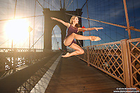 Dance As Art  New York City Photography Brooklyn Bridge Series with dancer,Erin Dowd