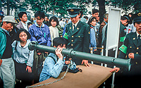 ©Tom Wagner 2004<br /> military parade at ground self defense force asaka training center - military souvenirs were sold, recruiting done<br /> Japan armed forces