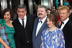 © Licensed to London News Pictures. 30/06/2012. London, UK. Robbie Coltrane (looking at camera) Brave film premier in Edinburgh. Photo credit : Michael Andrew/LNP
