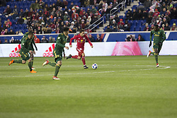 March 10, 2018 - Harrison, New Jersey, United States - Vincent Bezecourt (88) of Red Bulls controls ball during regular MLS game against Portland Timbers at Red Bull Arena Red Bulls won 4 - 0  (Credit Image: © Lev Radin/Pacific Press via ZUMA Wire)