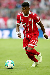 14.04.2018, Allianz Arena, Muenchen, GER, 1. FBL, FC Bayern Muenchen vs Borussia Moenchengladbach, 30. Runde, im Bild David Alaba (FC Bayern Muenchen #27) // during the German Bundesliga 30th round match between FC Bayern Munich and Borussia Moenchengladbach at the Allianz Arena in Muenchen, Germany on 2018/04/14. EXPA Pictures &copy; 2018, PhotoCredit: EXPA/ Eibner-Pressefoto/ Langer<br /> <br /> *****ATTENTION - OUT of GER*****