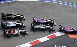 September 30, 2018 - Sochi, Russia - Motorsports: FIA Formula One World Championship 2018, Grand Prix of Russia,    Start  (Credit Image: © Hoch Zwei via ZUMA Wire)