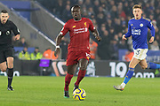 Sadio Mane (10) on the ball during the Premier League match between Leicester City and Liverpool at the King Power Stadium, Leicester, England on 26 December 2019.