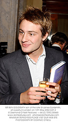 MR BEN GOLDSMITH son of the late Sir james Goldsmith, at a party in London on 13th May 2002.	OZY 2