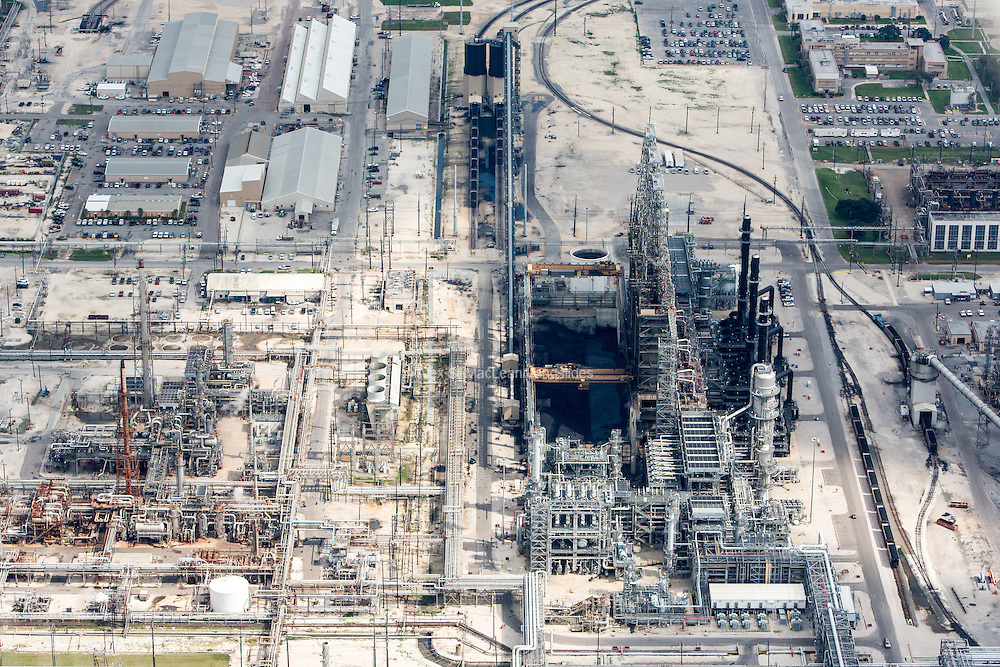 Motiva refinery in Port Arthur. The refinery has a capacity of 600,000 barrels a day, making it the largest refinery in the US.
