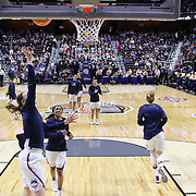 UNCASVILLE, CONNECTICUT- DECEMBER 4: The UConn Huskies warming up before the UConn Huskies Vs Texas Longhorns, NCAA Women's Basketball game in the Jimmy V Classic on December 4th, 2016 at the Mohegan Sun Arena, Uncasville, Connecticut. (Photo by Tim Clayton/Corbis via Getty Images)