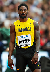 London, 2017 August 07. Rasheed Dwyer, Jamaica in the men's 200m heats on day four of the IAAF London 2017 world Championships at the London Stadium. © Paul Davey.