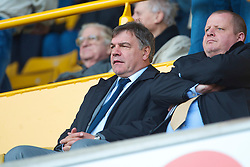 WOLVERHAMPTON, ENGLAND - Saturday, March 27, 2010: Blackburn Rovers' manager Sam Allardyce watches as Wolverhampton Wanderers takes on Everton during the Premiership match at Molineux. (Photo by David Rawcliffe/Propaganda)