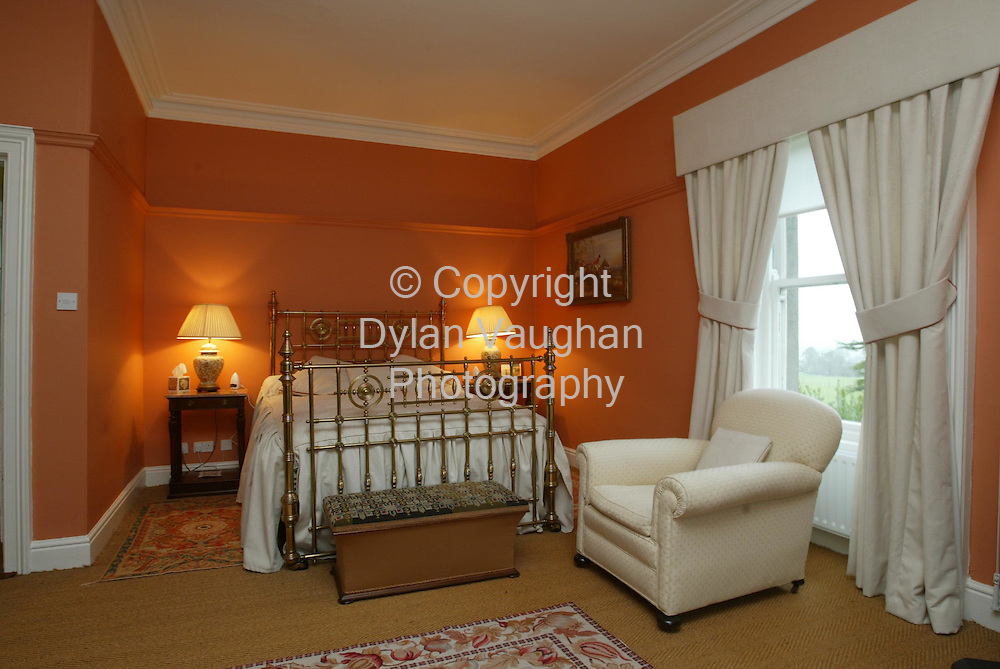 2/4/2002 .Sunday Times Property.One of the bedrooms at Mount Loftus in Kilkenny..Picture Dylan Vaughan