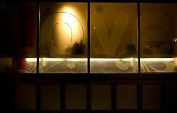 UK ENGLAND LONDON 18NOV11 - LOVE etched into a shopfront on Roseberry Avenue in central London...jre/Photo by Jiri Rezac....© Jiri Rezac 2011