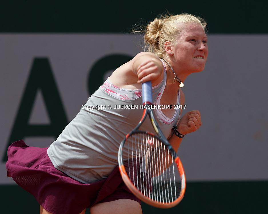 LARA SCHMIDT (GER), Junior Girls<br /> <br /> Tennis - French Open 2017 - Grand Slam / ATP / WTA / ITF -  Roland Garros - Paris -  - France  - 4 June 2017.
