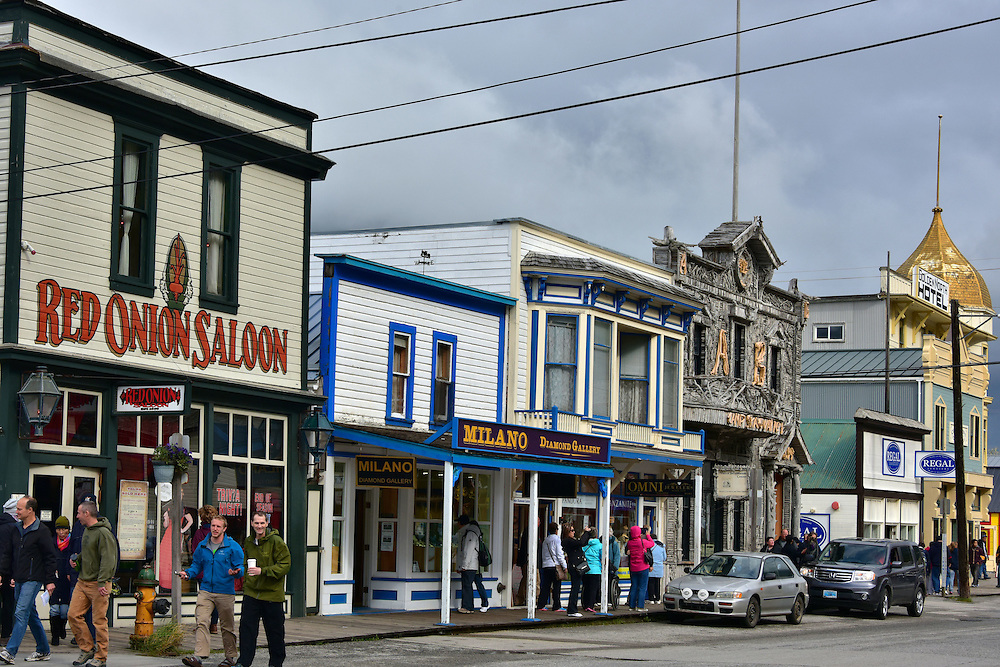 Historic Buildings on Broadway Avenue in Skagway, Alaska<br />