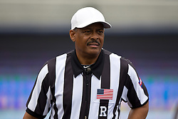 BERKELEY, CA - SEPTEMBER 12:  NCAA referee Michael Mothershed stands on the field before the game between the California Golden Bears and the San Diego State Aztecs at California Memorial Stadium on September 12, 2015 in Berkeley, California. The California Golden Bears defeated the San Diego State Aztecs 35-7. (Photo by Jason O. Watson/Getty Images) *** Local Caption *** Michael Mothershed