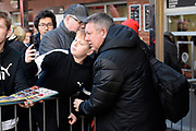 Watford assistant manager Craig Shakespeare has a selfie with a fan on arrival ahead of the Premier League match between Bournemouth and Watford at the Vitality Stadium, Bournemouth, England on 12 January 2020.