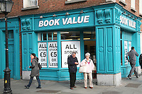 Discount book shop in Dublin Ireland