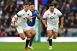 November 25, 2017 - London, England, United Kingdom - England's Henry Slade makes a break with England's Jamie George during Old Mutual Wealth Series between England against Samoa at Twickenham stadium , London on 25 Nov 2017  (Credit Image: © Kieran Galvin/NurPhoto via ZUMA Press)