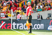 Assistant referee Rob Smith during the EFL Sky Bet League 2 Play Off Final match between Newport County and Tranmere Rovers at Wembley Stadium, London, England on 25 May 2019.
