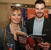 REPRO FREE:  Maeve Scannell GIAF  and Niall Horisk GGIAF at  Hotel Meyrick for the announcement of the programme for the 2018 Galway International Arts Festival Programme 16-29 July which features an exciting Irish and international programme of theatre, opera, dance, circus, music, spectacle, visual art, and First Thought Talks featuring interviews and discussions on the theme of home, six world premieres, five Irish premieres and artists and theatre makers from across the world. Highlights include world premieres of Paul Muldoon's Incantata, new plays by Sonya Kelly and Cristin Kehoe (Druid) and a new theatre installation from Enda Walsh, visual arts / installations commissions from David Mach Rock 'n' Roll and Olivier Grossetête The People Build. Photo:Andrew Downes, xposure.