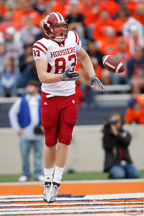 23 October 2010: Indiana Hoosiers tight end Ted Bolser (83)  as the University of Illinois Illini played the Indiana Hoosiers in a college football game in Champaign, Ill.