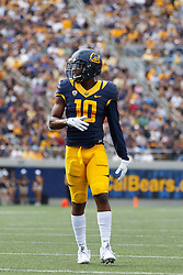 BERKELEY, CA - SEPTEMBER 12:  Wide receiver Darius Powe #10 of the California Golden Bears stands on the field against the San Diego State Aztecs during the third quarter at California Memorial Stadium on September 12, 2015 in Berkeley, California. The California Golden Bears defeated the San Diego State Aztecs 35-7. (Photo by Jason O. Watson/Getty Images) *** Local Caption *** Darius Powe
