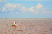 Paddling on Lake Tonle Sap