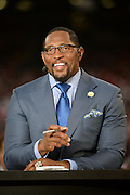 December 23, 2013; San Francisco, CA, USA; ESPN commentator Ray Lewis before the final regular season game at Candlestick Park between the San Francisco 49ers and the Atlanta Falcons.