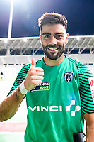 Penalty shootout hero, goalkeeper Vincent Demarconnay of Paris FC, after his side win the first round of French League Cup match between Paris FC and Brest on August 8, 2017 in Paris, France. (Photo by Dave Winter/Icon Sport)