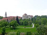 Krumlov castle with park