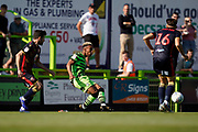 Junior Mondalof Forest Green Rovers in action during the EFL Sky Bet League 2 match between Forest Green Rovers and Stevenage at the New Lawn, Forest Green, United Kingdom on 21 September 2019.